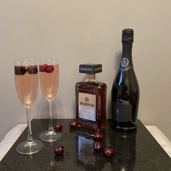 Bakewell Fizz Cocktail | 2 Glasses