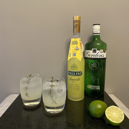 Limoncello Gin Fizz | Bottles | Lime | 2 Glasses